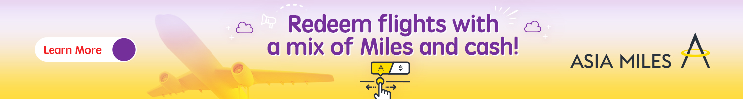Asia Miles – Redeem flights from or to Hong Kong