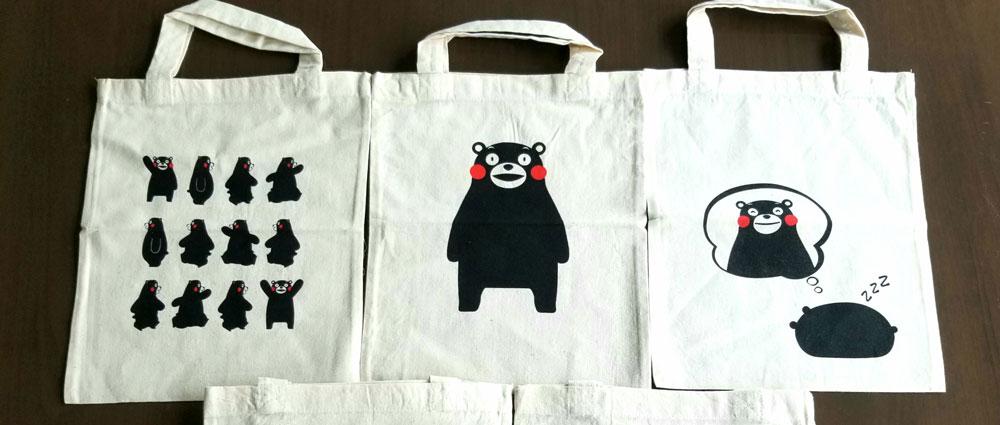 Kumamon Tote Bags
